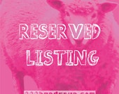Reserved Listing for J. Young