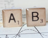 Scrabble Cufflinks, Cufflinks, Scrabble Tile Cufflinks, Scrabble Gifts, Scrabble Present, Monogram Cufflinks, Scrabble accessories, scrabble
