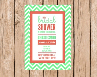 digital bridal shower invitations, digital bridal shower invites, wedding shower invitations, bridal shower invitations