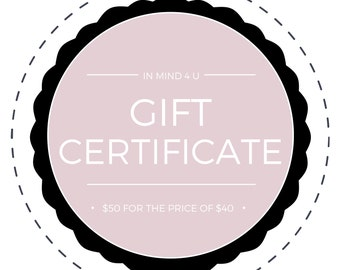 Wood Signs Gift Certificate, Custom Wood Signs, Gift Certificate