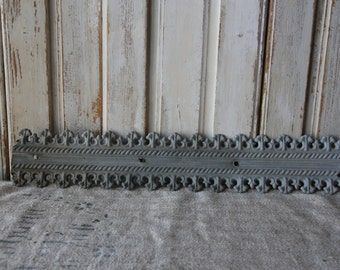 Antique French zinc house trim