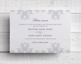 Damask Save the Date - Sample