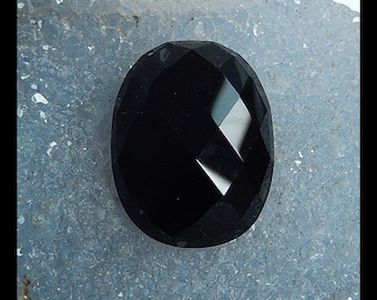 Obsidian Faceted Cabochon,26x20x8mm,6.7g