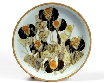 Elen Malmer  Royal Copenhagen Brilliant Floral Design Bowl Dish Fajance Ceramic Danish Modern 60s