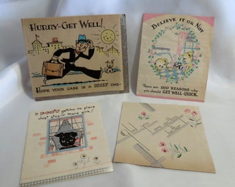 Vintage Get Well Greeting Cards from the 1930s