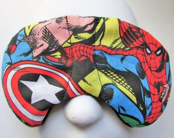 Herbal Hot/Cold Therapy Child Size Sleep Mask with adjustable and removable strap Marvel Heroes
