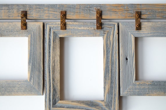 Barnwood Collage Frame 3 4x6 Multi Opening Frame Rustic