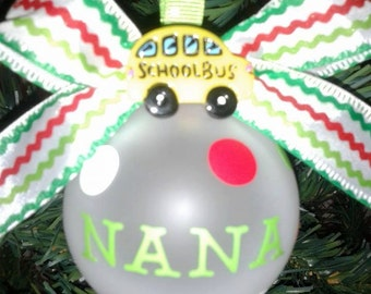 Bus Driver Ornament - Bus Driver Appreciation Gift - FREE SHIPPING