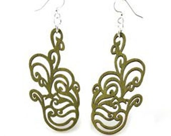 Jumbled Flower-Reforested Wood Earrings