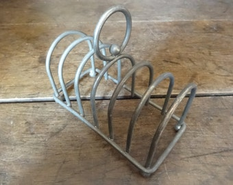 Vintage French metal letter toast breakfast rack stand display desk circa 1920-30's / English Shop