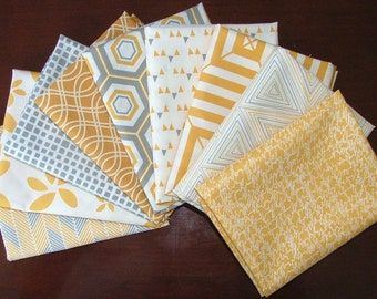 Fat Quarter Bundle of 9 from the Minimalista Collection by Art Gallery Fabrics In-House Studio