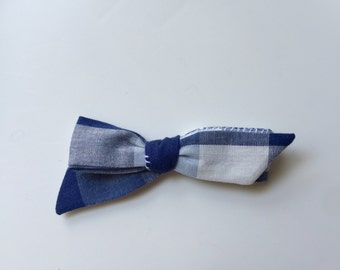Blue Gingham Dainty Bow