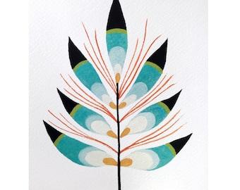 Plumage Leaf- Fine Art Print 5x7