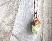 Green calcite necklace | Calcite | Gemstone necklace | Natural calcite necklace | Crystal necklace | Raw crystal necklace | Mineral necklace