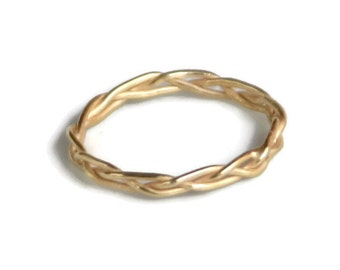 18k Gold Braided Ring or Wedding Band