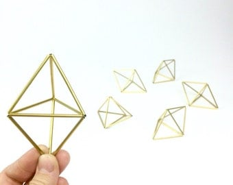 One mini double pyramid Ornament