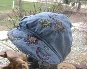 Newsboy Cap Hand Made One of a Kind by Beckys Kreations