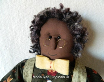 """African American Doll - Abraham ~ 22"""" Tall Brown Poseable Doll"""