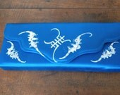 Asian Design Blue Silk Clutch Purse