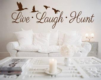 Live Laugh Hunt Duck Wall Decalu2013 Mallard Ducks  Living Room, Bedroom, Boy