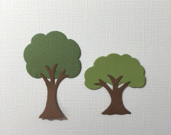6 Tree Die Cuts for Cards Scrapbooking and Paper Crafts Forest Park Woods Paper Trees Embellishments