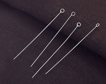 25 of 925 Sterling Silver Eye Pins  50 mm. :th2423