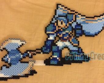 Fire Emblem 7 Sword of Flames/Blazing Sword - Hector - Perler Bead Sprite