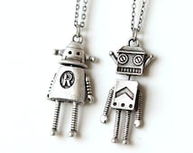 Robot Necklace / cute robot necklaces, robot jewelry
