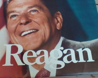 The Time Is Now.   Original 1980 Ronald Reagan Presidential Campaign Poster.  G-324