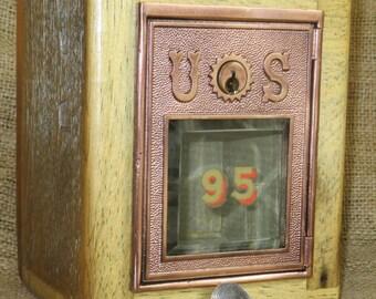 Post Office Door Bank #95 - Circa 1890 - Beveled Glass- Barn Wood FREE SHIPPING