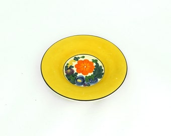Vintage hand painted floral Titan ware collectable Cretonne plate, Royal Adams china plate