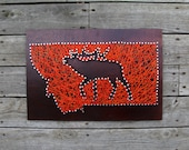 Montana Elk Silhouette String and Nail Art