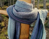 Muted Lavender and Purple handwoven Scarf