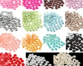 300 pcs of Resin Pearl  Half Round ABS Beads Diy Crafts Cabochon Mix 15colos