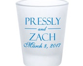 Wedding Favors Personalized Frosted Shot Glasses - Personalized Monogram or Design of Your Choice - Custom Wedding Favor