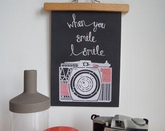 When you smile A4 Giclee Print