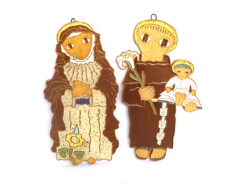 MARY and JOSEPH Wall PLAQUES/ Religious Wall Art