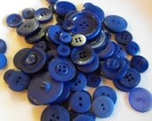 Navy Blue Buttons, 100 Bulk Assorted Round Multi Size Crafting Sewing Buttons