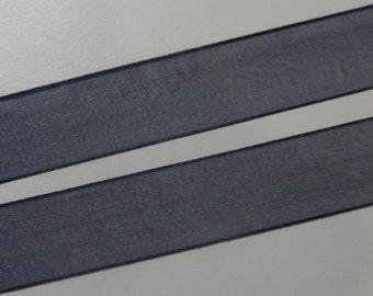 Dark Blue Sheer Ribbon