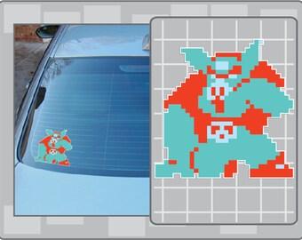 GANON 8bit Sprite vinyl decal sticker from the Legend of Zelda