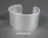 "1 1/4"" x 6"" (1.25 x 6), one dozen (12) Aluminum Cuff Bracelet Blanks unfinished"