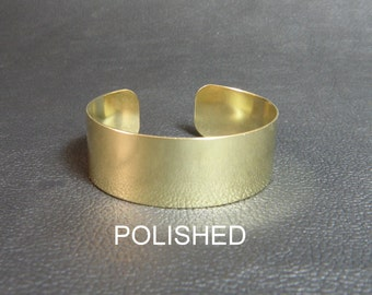 """Brass Cuff Bracelet Blank, 3/4"""" x 6"""" polished finish brass blank for alcohol inks, adding patina, wire wrapping, decoupage, wrist corsages"""