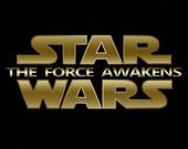 Golden Script Star Wars The Force Awakens Movie, Logo, poster, printable , greeting card, scrap booking,  tags, boy/girl birthday invitation