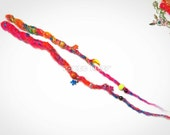 Crocheted dreadlocks, synthetic dreads, hair wraps, hair extensions ready to ship Tutti frutti 2 dreads embellished Toxic Hair high quality