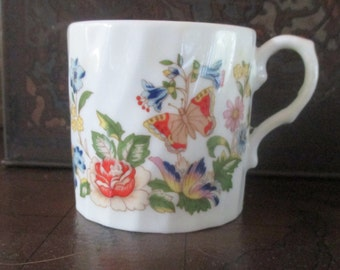 Aynsley Cottage Garden Demitasse Cup Mug English Bone China