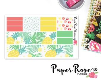 """Bottom """"Washi"""" Planner Stickers / Paradise Collection"""