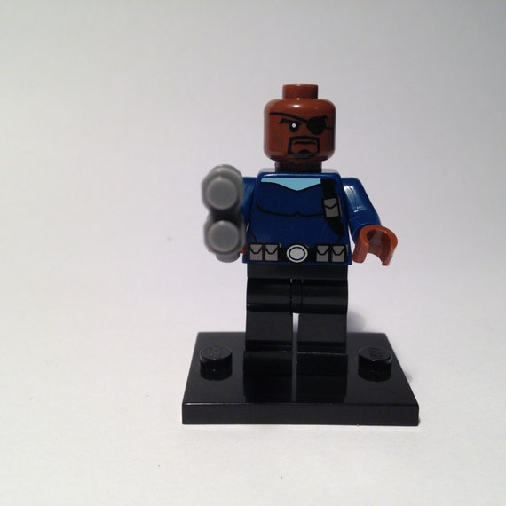 Nick Fury Marvel DC Comics Avengers building blocks Lego