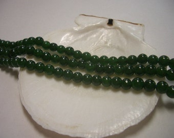 Green Jade beads 4mm, dark green, natural Jade beads, round beads, 4mm gemstone beads, 4mm beads, great quality Jade, 4mm green Jade beads