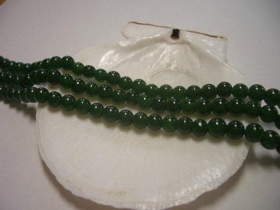 Green Jade beads 4mm, dark green, natural Jade beads, round beads, 4mm gemstone beads, 4mm beads, great quality Jade, 4mm green Jade beads