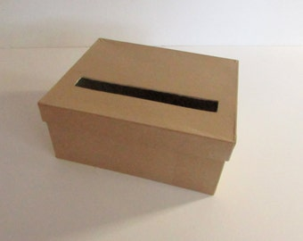 DIY Wedding Card Box SMALL Unfinished RECTANGLE Card Box